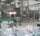 Линия горячего розлива в стеклянную бутылку формата от 0,3л до 1,5 л.